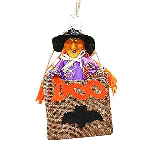 Hirolan Halloween Geschenk Niedlich Hexen Süßigkeiten Tasche Verpackung Party Lagerung Tasche (random)