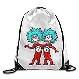 Dr Seuss Gym Bag Drawstring Backpack White