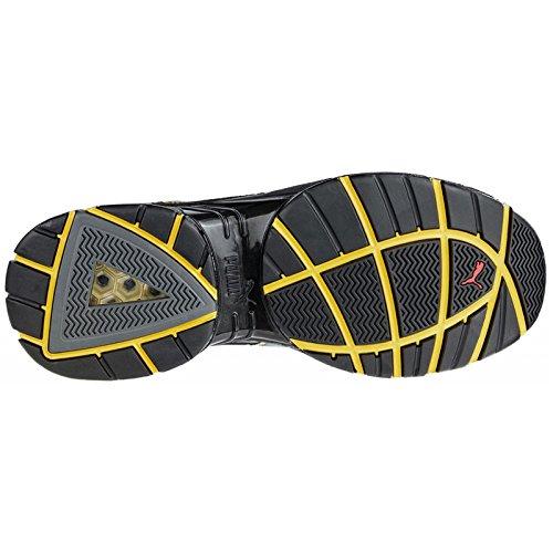 Puma Safety Shoes Pace Black Low S3 HRO SRA, Puma 642500-263 Unisex-Erwachsene Espadrille Halbschuhe Schwarz (schwarz/gelb 263)