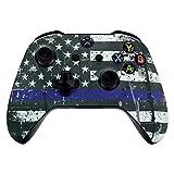 ACTMODZ eXtremeRate Obere Case Hülle Schutzhülle Gehäuse Cover Oberschale Skin für Xbox One S & Xbox One X Controller(Blaue Flagge)
