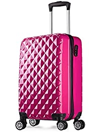 Valise cabine 55 cm ABS bagage cabine rigide 4 roues avion ryanair 4 couleurs 40L