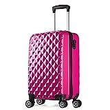 Maleta cabina 56 cm rígida policarbonato + abs diamante equipaje rigida con ruedas 20068 partyprince