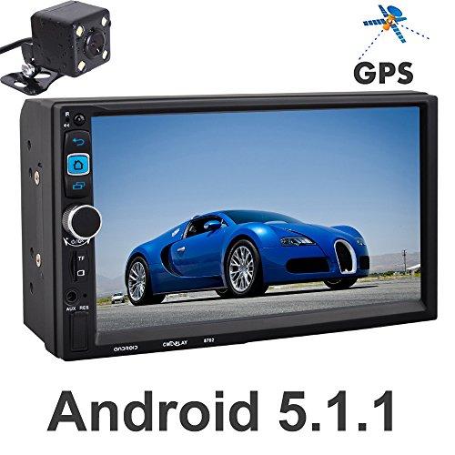 "PolarLander 7 ""FHD kapazitiver Touch Screen 2 Din Android 5.1.1 12V Auto Radio Audio Player Eingebauter Wifi GPS Spiegel Link mit Rückfahrkamera"