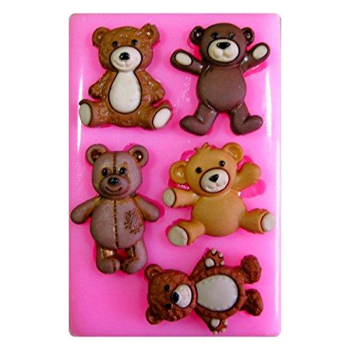 Tatty Bären Teddy Silikon Form für Kuchen Dekorieren, Kuchen, kleiner Kuchen Toppers, Zuckerglasur Sugarcraft Werkzeug durch Fairie Blessings (Teddy Bär Form)