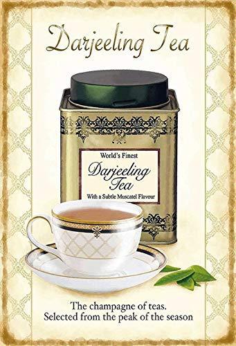 Darjeeling Tea Tee Targa di Latta Poster Metallo Segno Curvato Targhe Metallo 20x 30 Cm