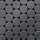 Azulejo mosaico de metal sólido Acero bruto laminado gris oscuro 1,6 mm de grosor ALLOY Medallion-RS 0,73 m2