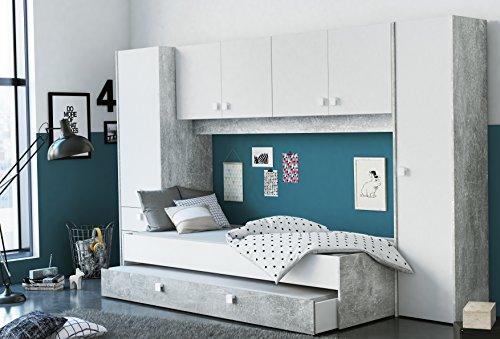 Miroytengo Pack Dormitorio Juvenil Estilo Industrial