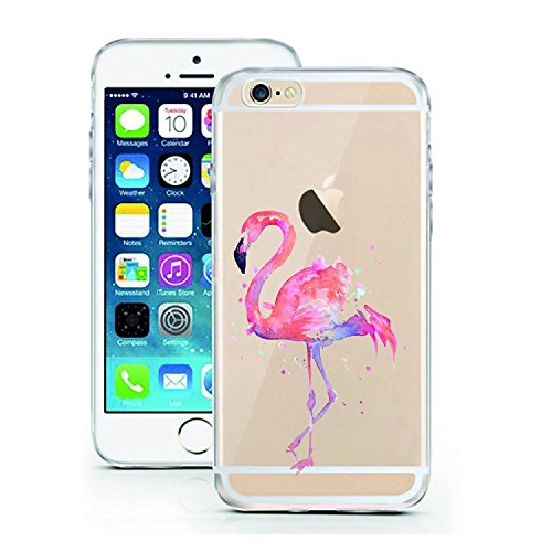 Blitz® ADORE motifs housse de protection transparent TPE caricature bande iPhone Travel iPhone 7 Flamingo