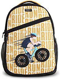 Priority Aeon 40 LTR Black & Yellow Casual School | College Backpack Bag