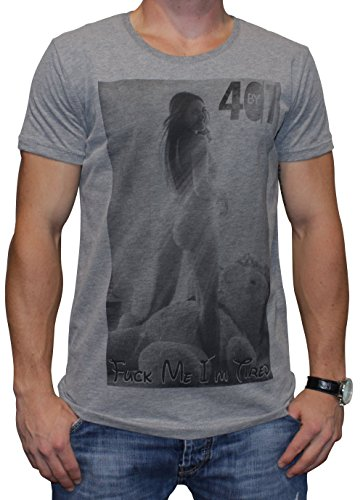 40by1, Herren T-Shirt, Tired Ted, Grey, 40/1-14-057-g, GR L
