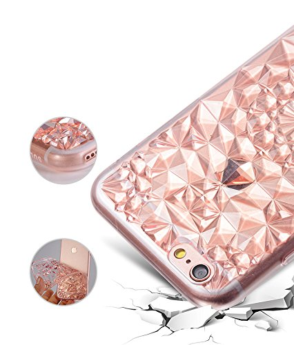 iPhone 6s Hülle,EinsAcc Kristall Style Flexible Silikon Schutzhülle Hülle für iPhone 6s 4.7 Zoll Etui Schale Case Cover (rosegold) violet