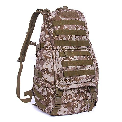 Rucksack Outdoor bergsteigen Beutel wasserdichte Reisen Double Shoulder Bag camouflage ride Tasche 49 * 34 * 20 cm, Wüste digital, 36-55 Liter ACU Farbe