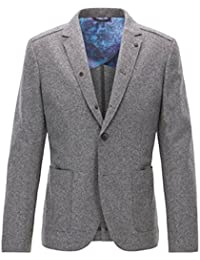 BOSS ORANGE Slim-Fit Sakko BECKS aus Schurwolle mit offenen Kanten Farbe grau 051