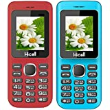 Hicell C5 (Combo Of Two MOBILES) Dual Sim Mobile Phone With Digital Camera And 1.8 Inch Screen (RedBlack+Blueblack)