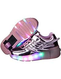 Jungen und Mädchen Turnschuhe Wanderschuhe Rollschuh Schuhe Skateboard mit LED-Leuchten blinken skateboarding Schuhe neutral Rad Rollschuhe mit Rädern