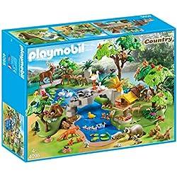 Playmobil- Grand Set Animaux de la forêt, 4095