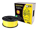 Patona 3D Printer Filament PLA gelb (Spule / 1Kg / 1,75mm)
