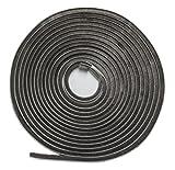 WJ Dennis & Company 417PL Self-Adhesive Pile Weatherstrip, 1/4-Inch x 3/16-Inch x 17-Foot, Grey by WJ Dennis & Company
