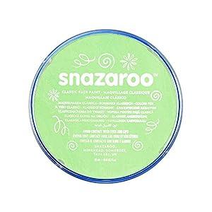 Snazaroo - Pintura facial y corporal, 18 ml, color verde pálido