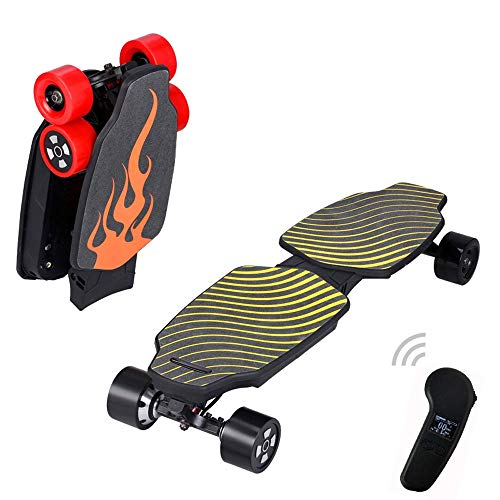 Y&XF Teamgee Elektroroller Folding Double Drive Skateboard Drahtlose Fernbedienung Roller Erwachsene Roller 7s2p / 110.89wh, 33.9 '' * 10.8 '' * 5.9 '', Wasp,B (20 Roulette-rad)