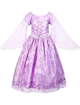 ReliBeauty Mädchen Prinzessin Rapunzel Kleid