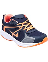 CF_Better Deals Mens Synthetic Mesh Navy Orange Coloured Sports Shoe| Running Shoes| Pro Running Shoes| Sprint... - B076CMX17P