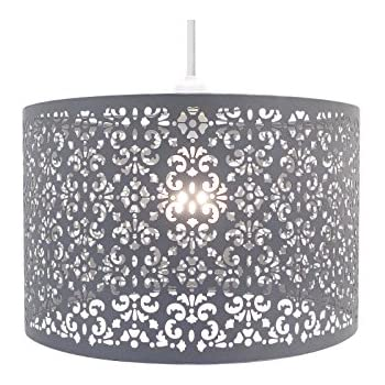 Chandelier chic ceiling light pendant shade crystal droplet fitting chandelier chic ceiling light pendant shade crystal droplet fitting easy fit large metal shade dark mozeypictures Gallery