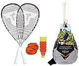 Talbot Torro Speed 7700, Set da Badminton 2 Racchette 58.5 cm, 6 Volani Veloci e Resistenti al Vento Uomo, Taglia Unica