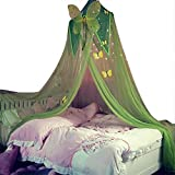 lembrd Moskitonetz Betthimmel Kinder Mückennetz Bett Baby Baldachin, Bett Baldachin Moskitonetz mit blauem Stern für Kinder Baby (Rosa/Grün/Lila
