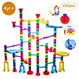 Ucradle Marble Run, 152 Pcs Marble Runs Toy Marble Maze Race Track Game