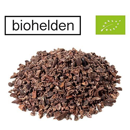 Biohelden Kakaonibs in Bio Qualität 1KG aus 100 Prozent Kakao - rohe Kakao Nibs 1000g aus biologischem Anbau