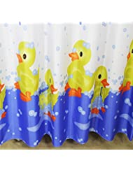 D G F Cortina de ducha de poliéster Baño creativo Pequeño cortina de ducha amarilla de pato Multi-tamaño Opcional ( Tamaño : 200*180cm )