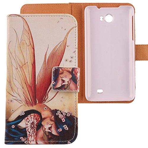Lankashi PU Flip Leder Tasche Hülle Case Cover Schutz Handy Etui Skin Für Kazam Trooper 2 5.0 Wing Girl Design