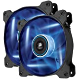 Corsair Air Series AF120-LED 120mm Quiet Edition High Airflow LED Fan - Blue (Dual Pack)