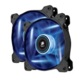 Corsair CO-9050016-BLED Air Series AF120-LED Quiet Edition 120mm High Airflow LED Lüfter, Blau