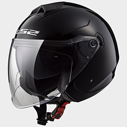 LS2-OF573-TWISTER-Casco-Jet-Scooter-Moto-Nero-lucido