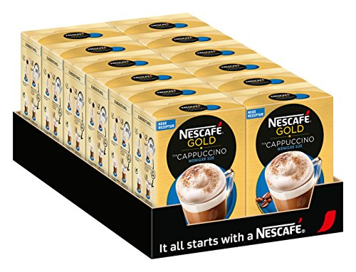 Nescafé Gold Typ Cappuccino Weniger Süß (Faltschachtel) 10x12,5g, 4er Pack