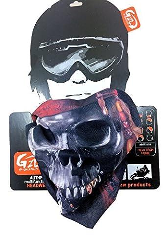 Biker Ski Écharpe bouche couverture vitesse de pirate visage cou Bandana Masque Protecteur vent