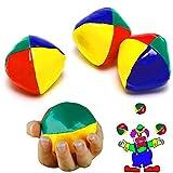 German Trendseller 6 x Jonglierbälle Zirkus l 50 mm┃ Jongleur ┃ Lernen ┃ Für Artisten und Zirkus ✔