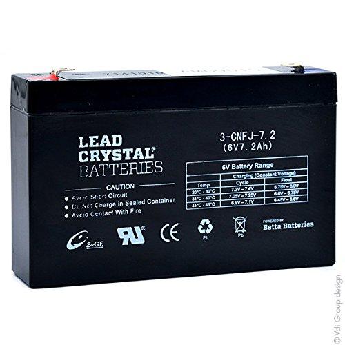 Lead Crystal - Akku Bleikristall 3-CNFJ-7.2 6V 7.2Ah F4.8 -