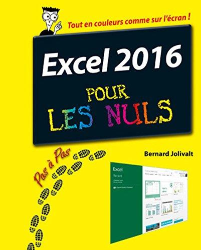Excel 2016 pour les Nuls Pas à Pas