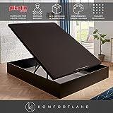 Canapé abatible MagicBox Medida 135x190 cm Color Wengué (con montaje incluido)