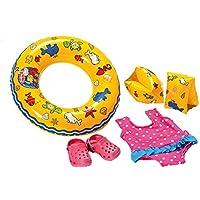 Heless 88, Heless 88 Schwimmset für Puppen, Badeanzug, Clogs, Schwimmring und -flügel, Größe 35 x 45 cm