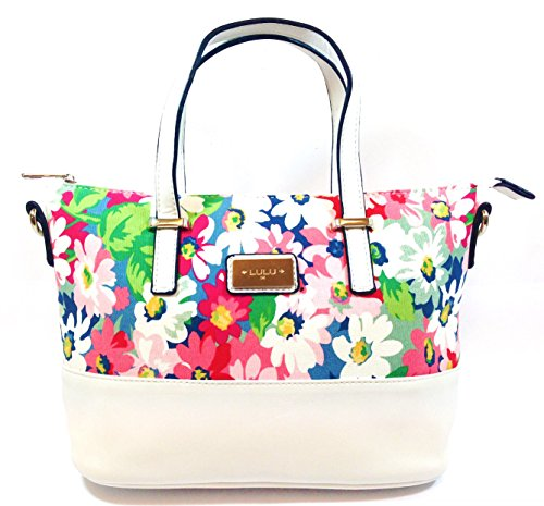 handbags-for-woman-floral-printed-canvas-top-handle-grab-bag-with-contrasting-trim-white