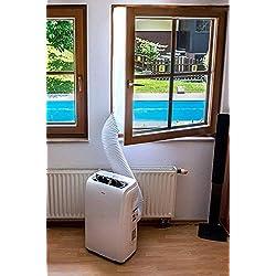 Joint de Fenêtre pour La Climatisation Mobile et Sèche-Linge, Fonctionne avec Toutes Les Unités De Climatisation Portatif, Arrêt d'air Chaud Facile à Installer Pas Besoin de Trous de Forage 400CM