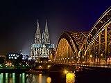 Artland Qualitätsbilder I Glasbilder Deko Glas Bilder 80 x 60 cm Städte Deutschland Köln Foto Schwarz A7JA Kölner Dom
