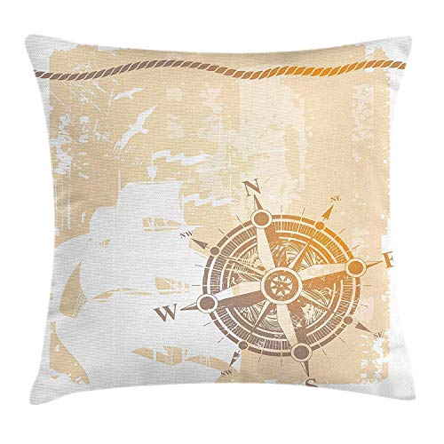 Ntpclsuits Compass Pillow case Nautical Themed Compass Marine -