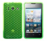 Luxburg® Diamond Design Schutzhülle für Huawei Ascend Y300 in Farbe Smaragd Grün, Hülle Case aus TPU Silikon