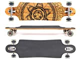 MAXOfit® Deluxe Longboard GeoLines Bamboo No.96, Drop Through, 96,5 cm, 4 Schichten, ABEC11