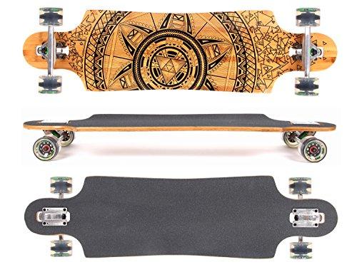 MAXOfit Deluxe Longboard Safari No.57, Drop Through, 91,5 cm, 9 stratti, ABEC11